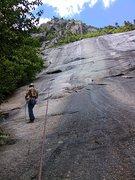 Rock Climbing Photo: On rapell