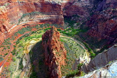 Rock Climbing Photo: Looking down from the top of Angel's Landing Read ...