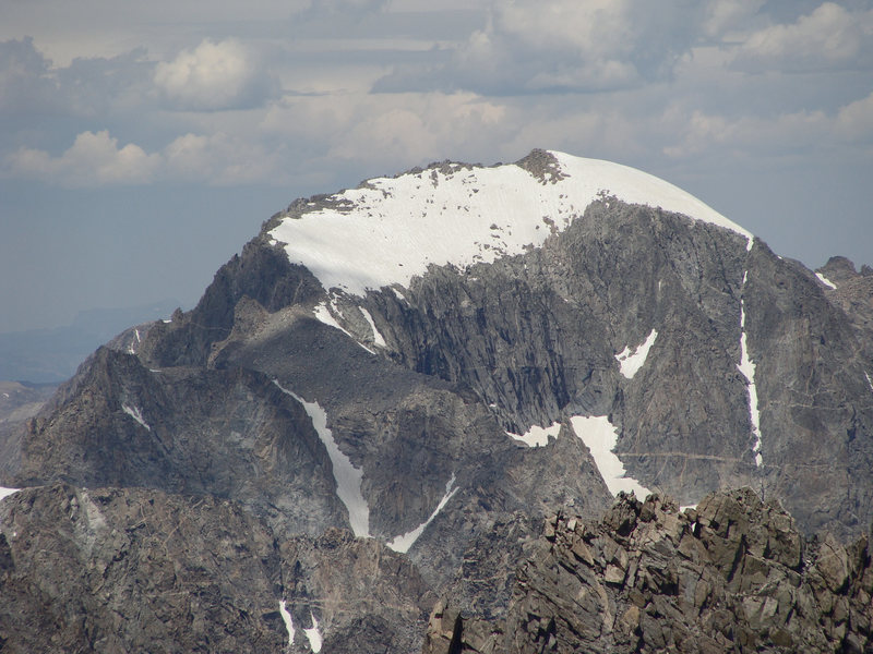 Close up photo of upper Gannett Peak, Wind River Range, Wyoming (2012)