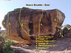 Rock Climbing Photo: Hueco Problem problem beta.  Photo by Matt Lisenby...