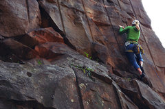 Rock Climbing Photo: First Couple of moves, Leading