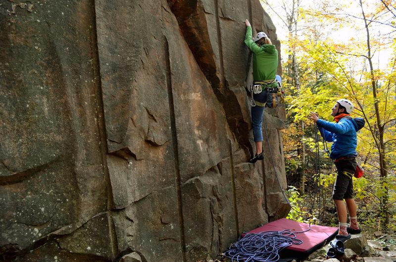 Rock Climbing Photo: Start of climb, Lead