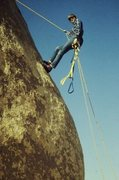 Rock Climbing Photo: Learning aid and rappelling on Ryan's pillar, 1971...