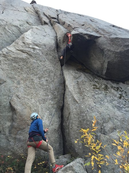 Rock Climbing Photo: Luc gettin' cradled!