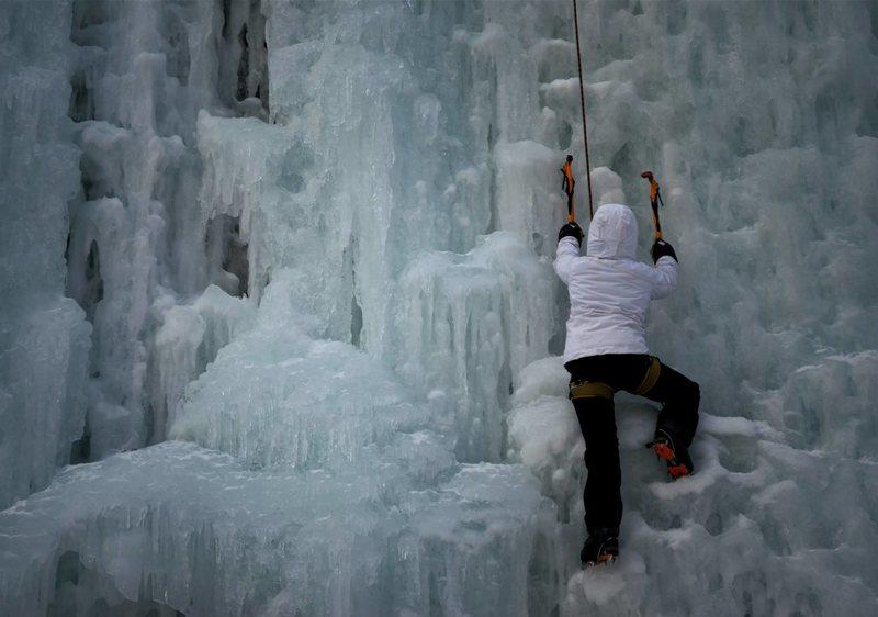Rock Climbing Photo: Ice Climbing Robinson State Park