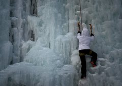 Rock Climbing Photo: Ice Climbing Robinson State Park