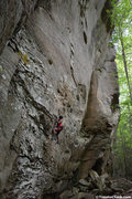 Rock Climbing Photo: Climber on KSB in the Red River Gorge