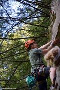 Rock Climbing Photo: Andrew Messick climbing on Gettin Lucky in Kentuck...