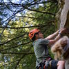 Andrew Messick climbing on Gettin Lucky in Kentucky in Muir Valley of Red River Gorge