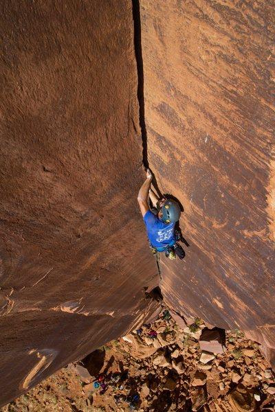 Rock Climbing Photo: leading hand cracks