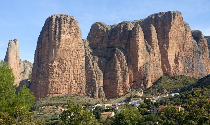 Rock Climbing Photo: The main walls at Riglos, including the Fire Spire...