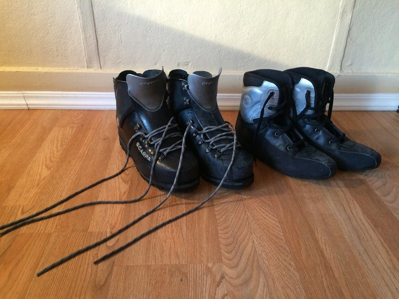 Boots with liners (over boots not shown here)