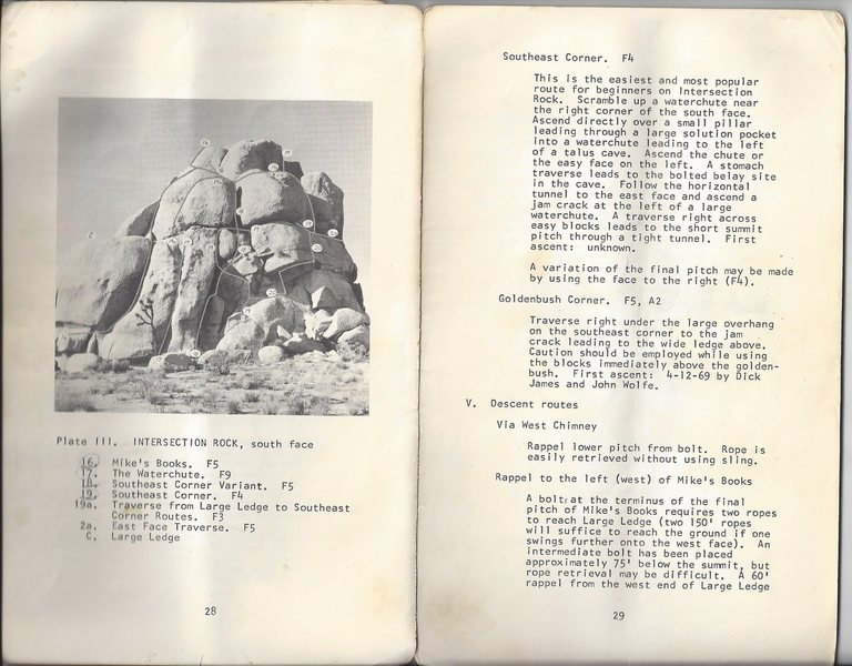 Route description from the first JT guide by John Wolfe.