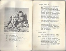 Rock Climbing Photo: Route description from the first JT guide by John ...