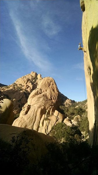 Two rope rappel off P1 Endgame