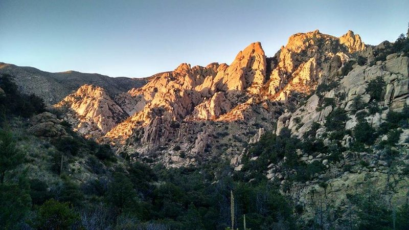 West Cochise stronghold bathed in the evening light.