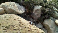 Rock Climbing Photo: Matt coming up on some fun reptile skin crimps nea...