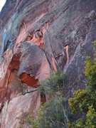 Rock Climbing Photo: Anti-meridian is the splitter on the right and Pri...