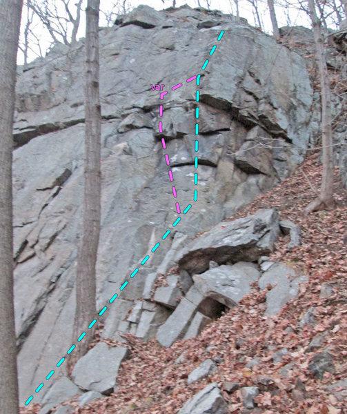 Rock Climbing Photo: Devonshire Ridge route topo
