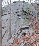 Rock Climbing Photo: High Side route topo