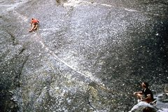 Rock Climbing Photo: Dave Yerian belayed by Bruce Morris on the FA of &...