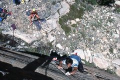 """Rock Climbing Photo: Marc Hill belayed by Dave Yerian leads """"Squea..."""