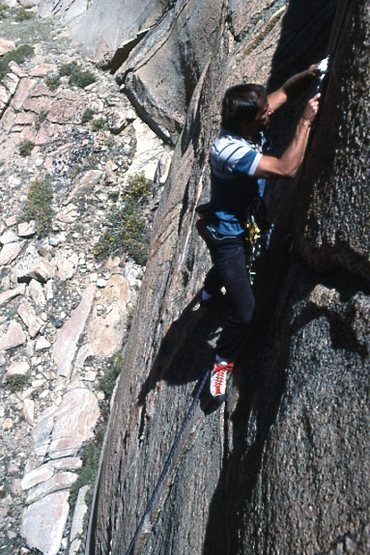 "Marc Hill further up ""Squealer"" (5.10b)"