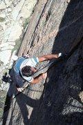 "Rock Climbing Photo: Marc Hill starting up ""Squealer"" (5.10b)"