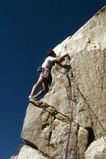 "Rock Climbing Photo: Dave Caunt leads ""Hidden Persuasion"" (5...."