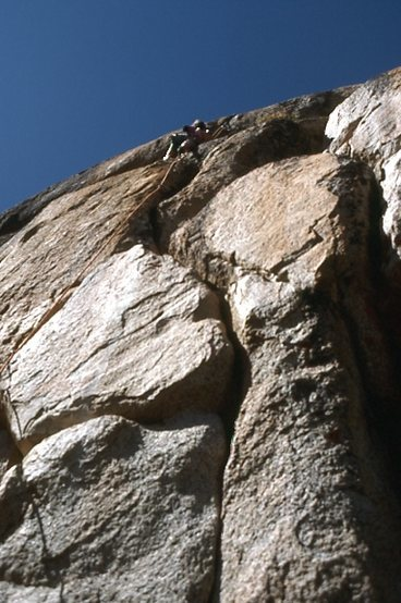 "Rock Climbing Photo: Scott Cole nearing the top of ""Techno-Pig&quo..."