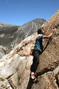 """Rock Climbing Photo: Marc Hill on the last few moves of """"Squealer&..."""