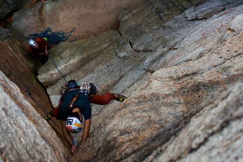 Rock Climbing Photo: Directly above the dihedral