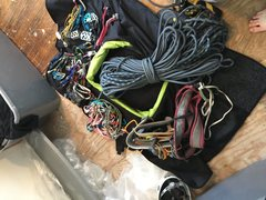 All the gear that was packed in it 70m my full double rack sixteen draws plus a bit of nonsense