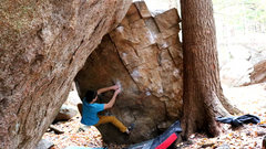 Rock Climbing Photo: The match on the vertical pinch