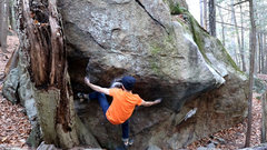 Rock Climbing Photo: Getting the heel setup