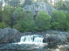 Rock Climbing Photo: eagle falls, adk ny