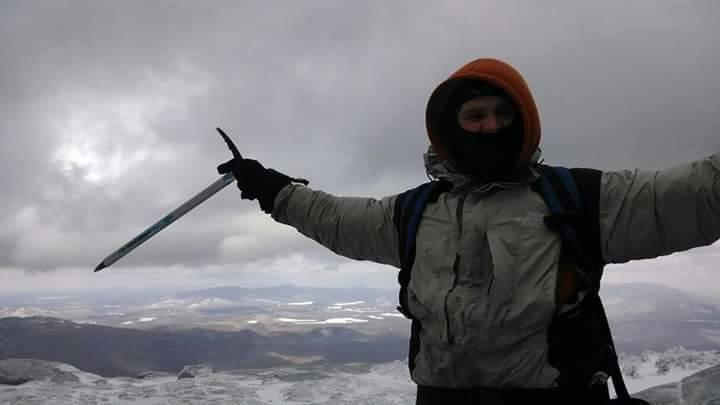 winter hike in high peaks adk