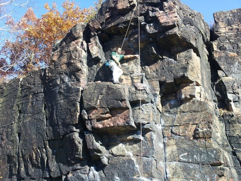 Rock Climbing Photo: a moss island classic my first time climbing outdo...