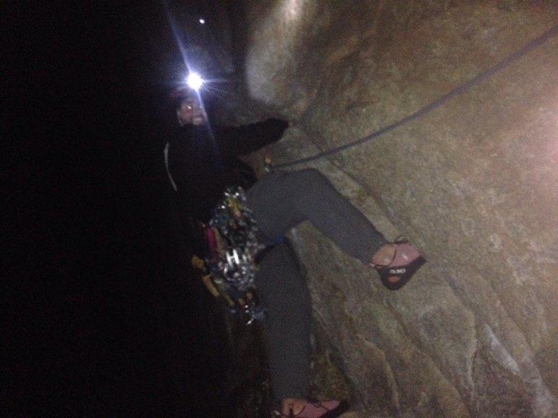 """Rock Climbing Photo: """"Just follow the damn crack.""""  12/8/15."""