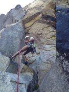 Rock Climbing Photo: Da wong inspecting a blown out red x4, i caught hi...