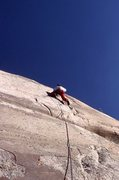 "Rock Climbing Photo: Urmas Franosch leading ""Dinosaur Exhibit&quot..."