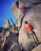 "Rock Climbing Photo: The ""delayed flight"" didn't keep us from..."