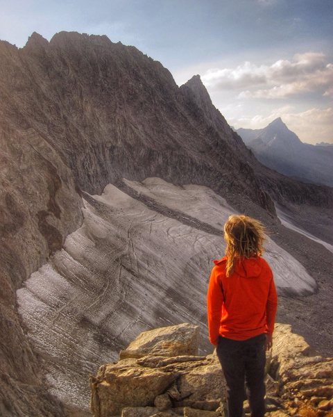 Rock Climbing Photo: looking back, after completing the full palisade t...