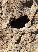 Rock Climbing Photo: Namesake hole...