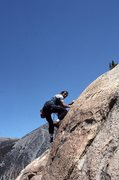 "Rock Climbing Photo: Marc Hill finishes ""Squealer"" (5.10b thi..."