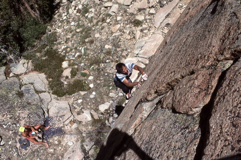 "Rock Climbing Photo: Marc Hill on the first few moves of ""Squealer..."
