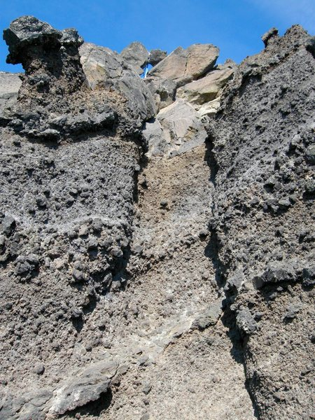 Rock Climbing Photo: The technical pitch to the summit.