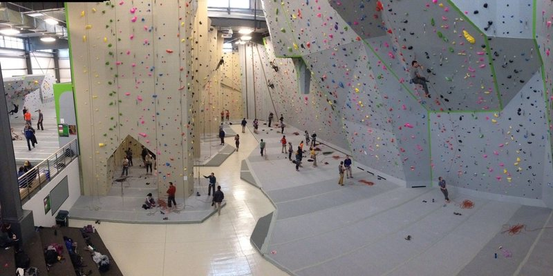 Overview of top rope and lead climbing areas.