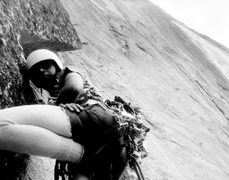 Rock Climbing Photo: Regular NW Face of Half Dome, June, 1973.