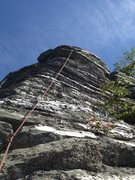 Rock Climbing Photo: Lead up Loudon Heights.